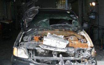 Investigation into cause of a vehicle fire
