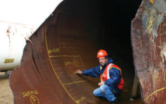 Forensic engineering of a ruptured pressurized rail tank car